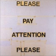 NAUMAN: PLEASE PAY ATTENTION PLEASE: BRUCE NAUMAN S WORDS