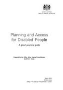 PLANNING AND ACCESS FOR DISABLED PEOPLE. A GOOD PRACTICE GUIDE