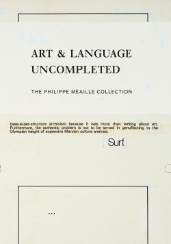 ART AND LENGUAGE UNCOMPETED. THE PHILIPPE MEAILLE COLLECTION