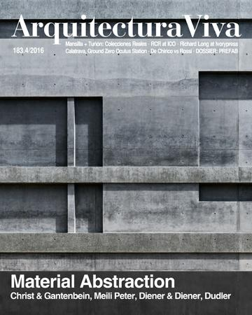 ARQUITECTURA VIVA Nº 183 MATERIAL ABSTRACTION