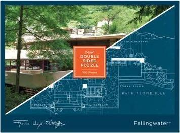 FALLINGWATER 2 IN 1 DOUBLE SIDED PUZZLE ( 500 PIECES)