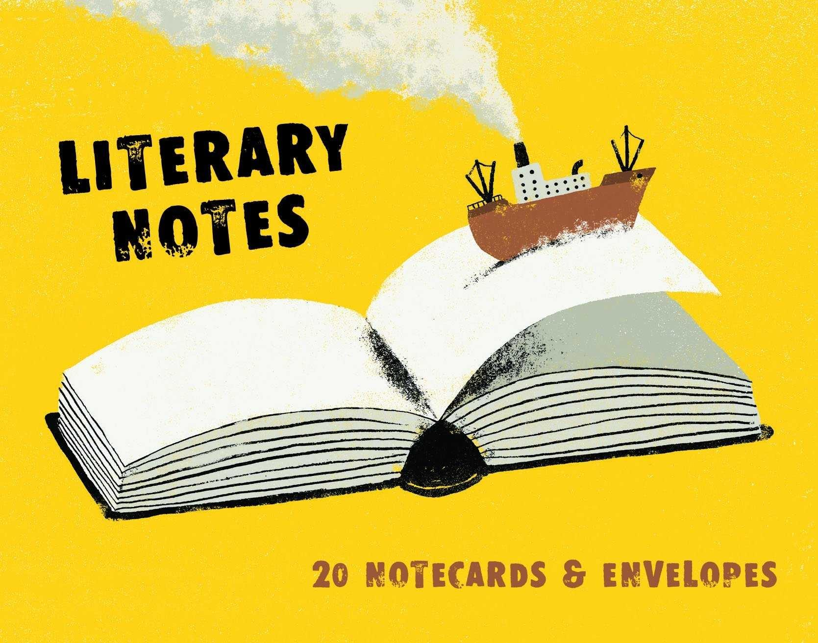 LITERARY NOTES: 20 NOTECARDS & ENVELOPES