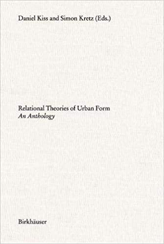 RELATIONAL THEORIES OF URBAN FORM. AN ANTHOLOGY